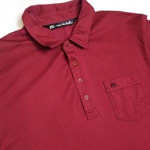 Travis Mathew Short Sleeve Polo Shirt Men Size XL